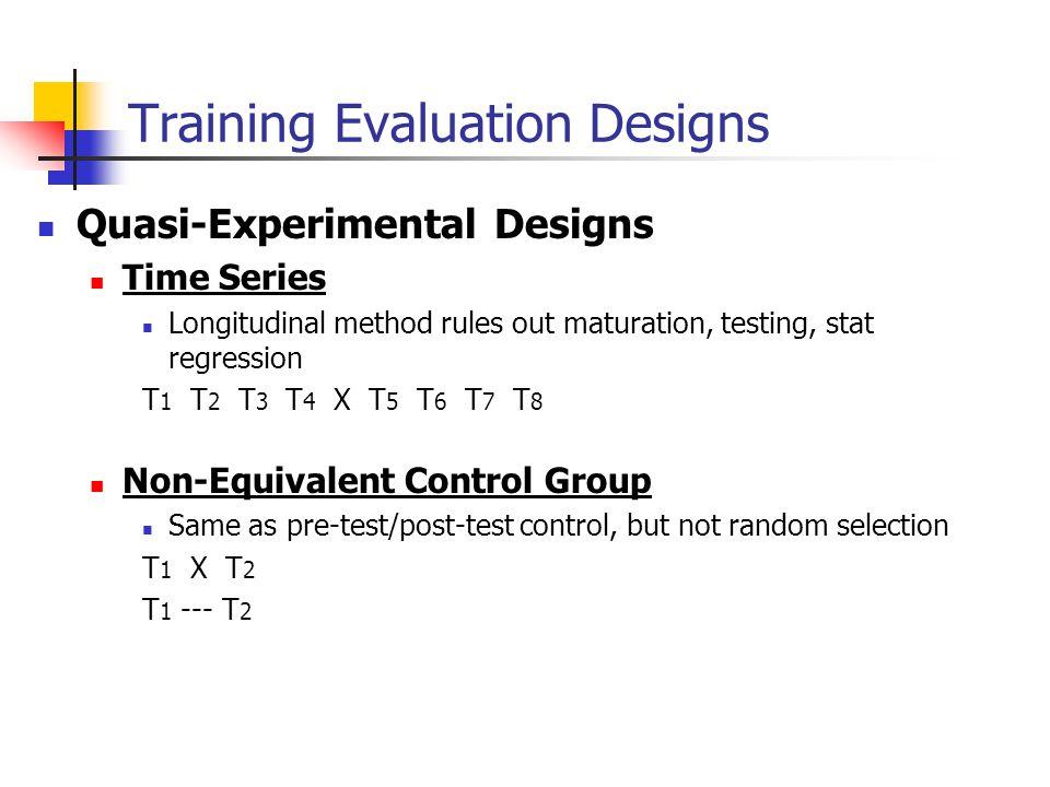 Training Evaluation Designs