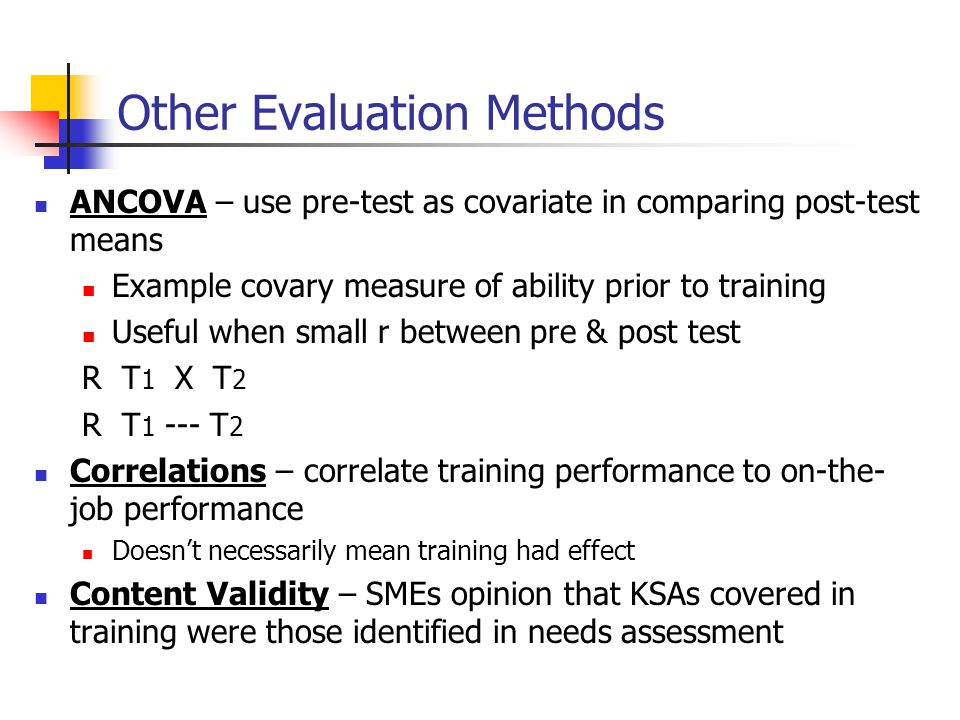 Other Evaluation Methods