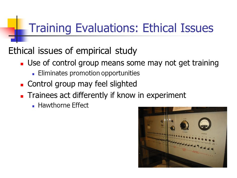 Training Evaluations: Ethical Issues