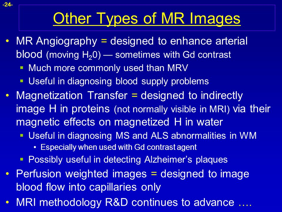 Other Types of MR Images