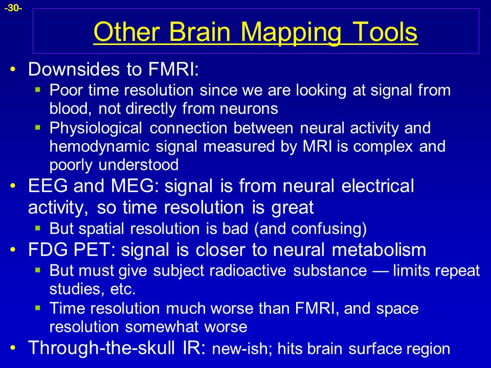 Other Brain Mapping Tools