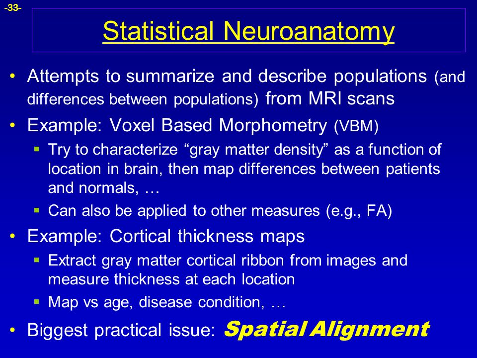 Statistical Neuroanatomy