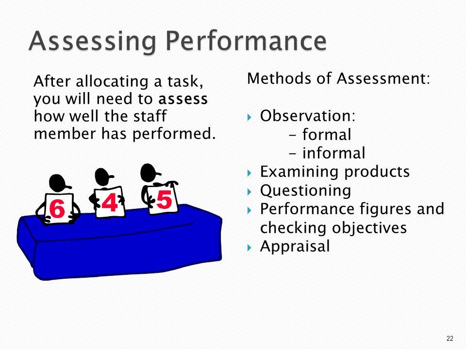 Assessing Performance