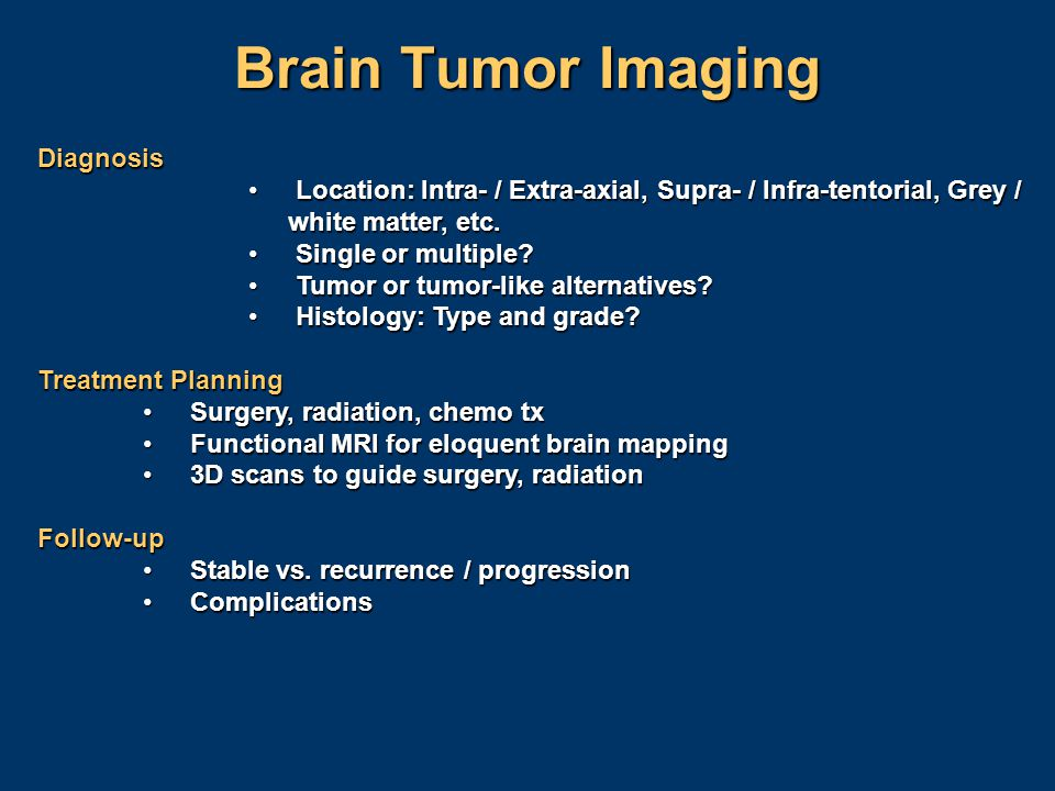 Brain Tumor Imaging Diagnosis