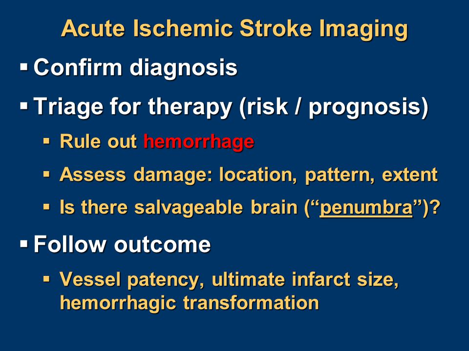 Acute Ischemic Stroke Imaging