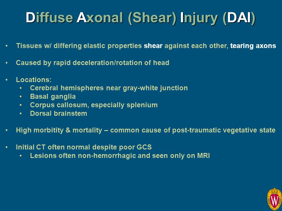 Diffuse Axonal (Shear) Injury (DAI)