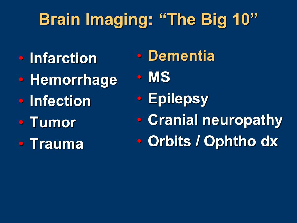 Brain Imaging: The Big 10