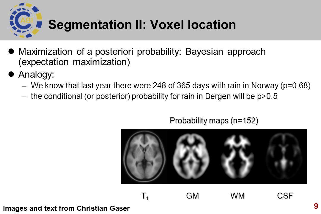 Segmentation II: Voxel location