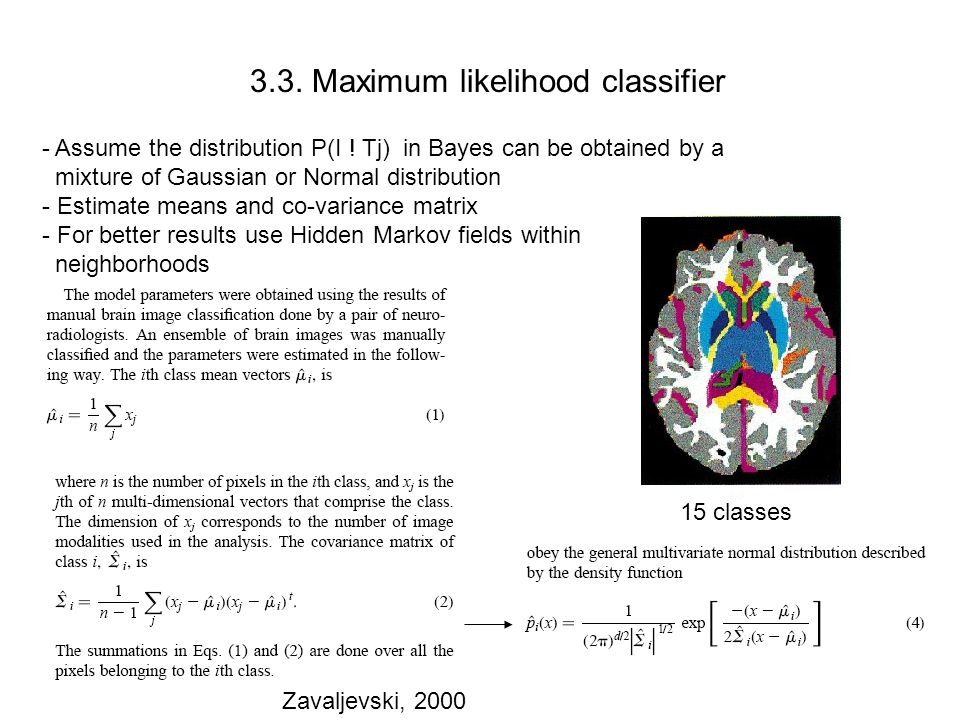 3.3. Maximum likelihood classifier