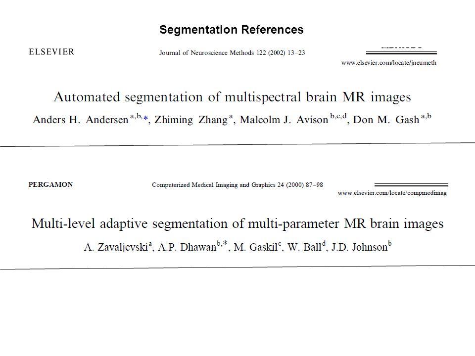 Segmentation References