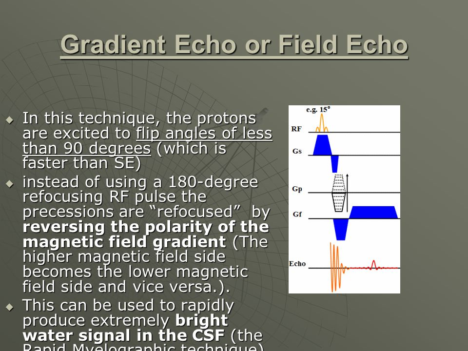 Gradient Echo or Field Echo