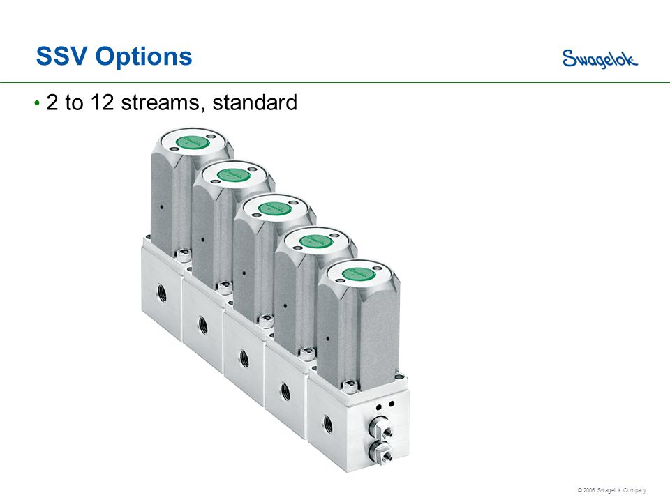 SSV Options 2 to 12 streams, standard