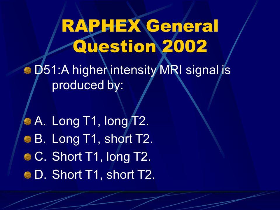 RAPHEX General Question 2002