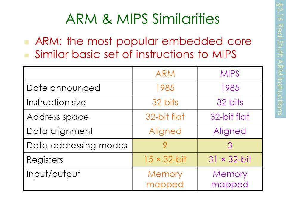 ARM & MIPS Similarities