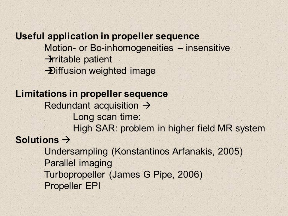 Useful application in propeller sequence