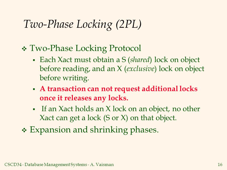 Two-Phase Locking (2PL)