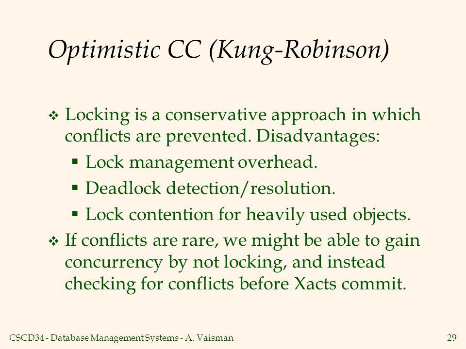 Optimistic CC (Kung-Robinson)