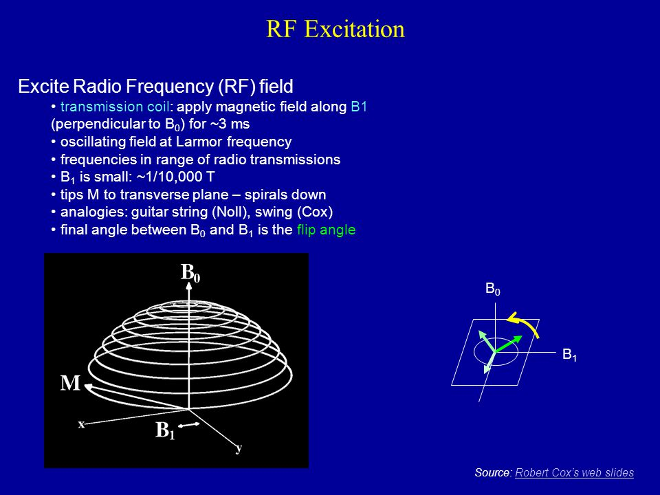 RF Excitation Excite Radio Frequency (RF) field
