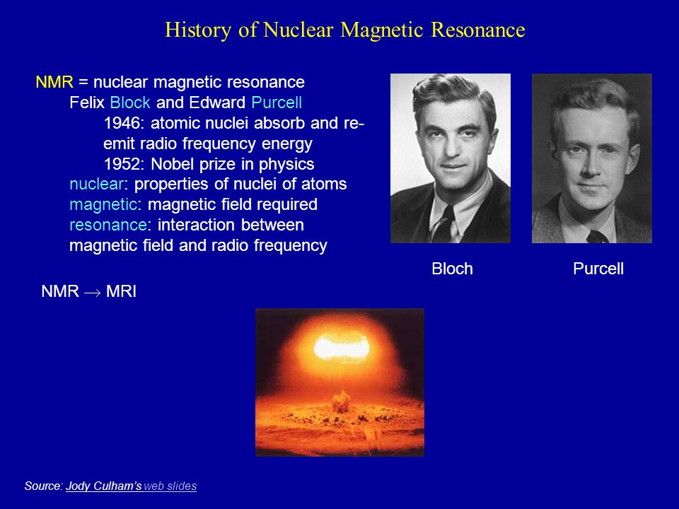 History of Nuclear Magnetic Resonance
