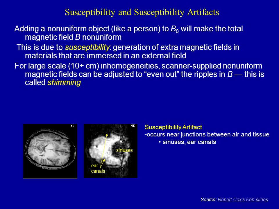 Susceptibility and Susceptibility Artifacts