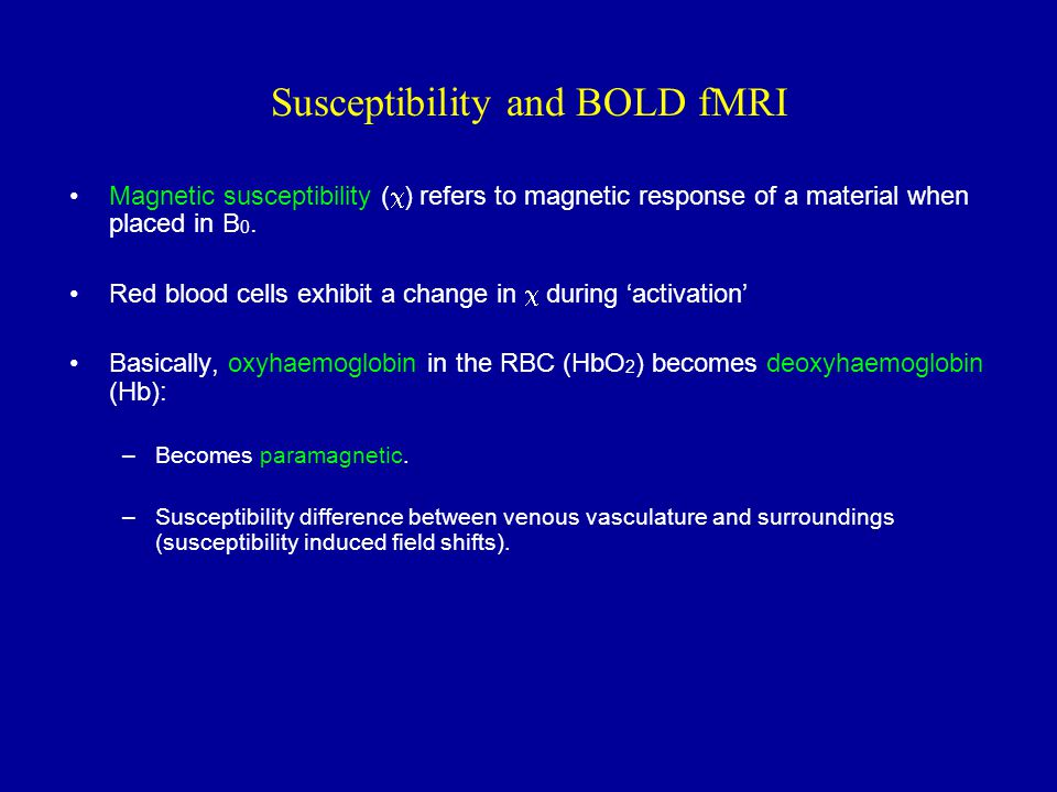 Susceptibility and BOLD fMRI