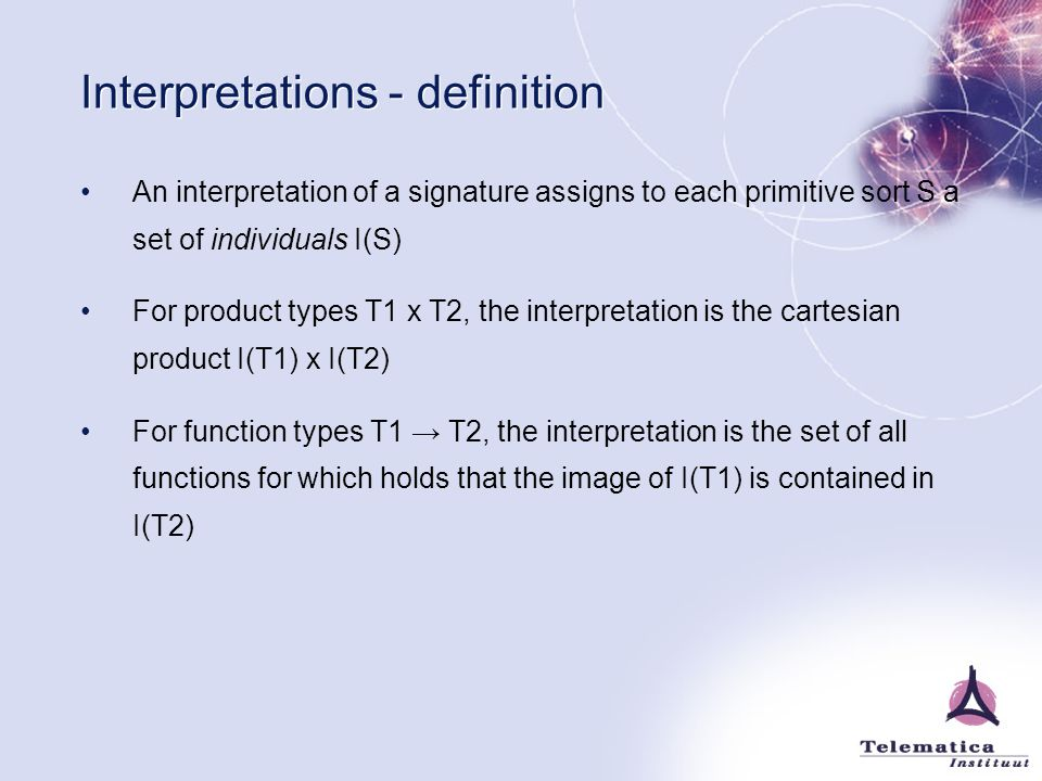 Interpretations - definition