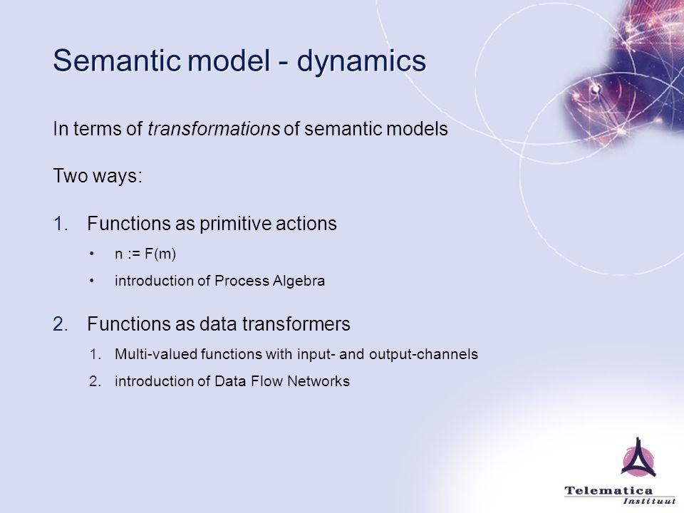 Semantic model - dynamics