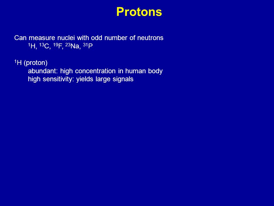 Protons Can measure nuclei with odd number of neutrons