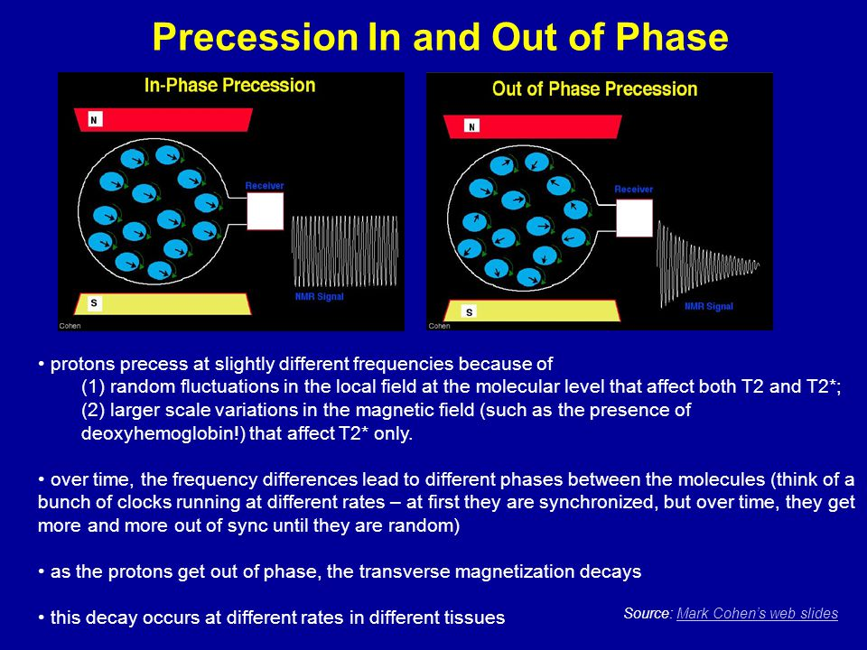 Precession In and Out of Phase