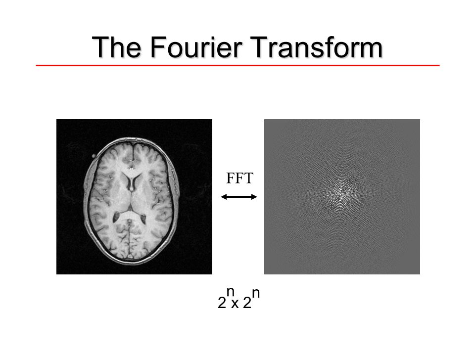 The Fourier Transform FFT n 2 x 2