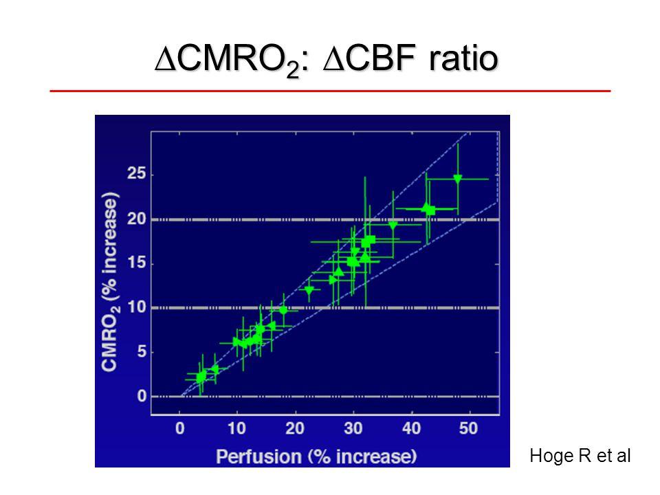 CMRO2: CBF ratio Hoge R et al