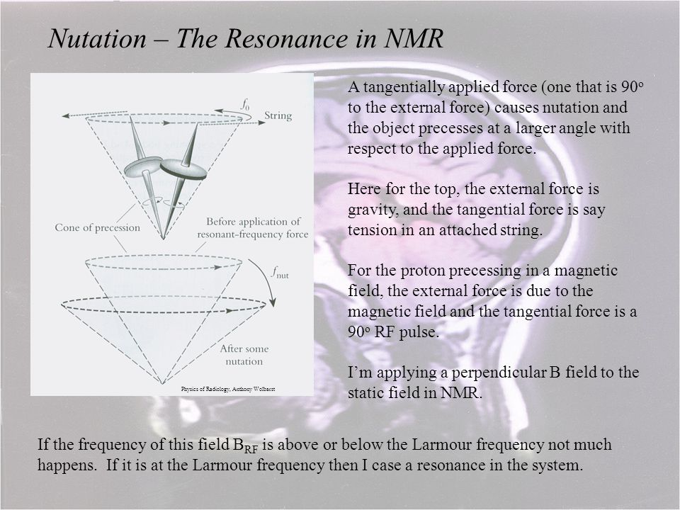 Nutation – The Resonance in NMR