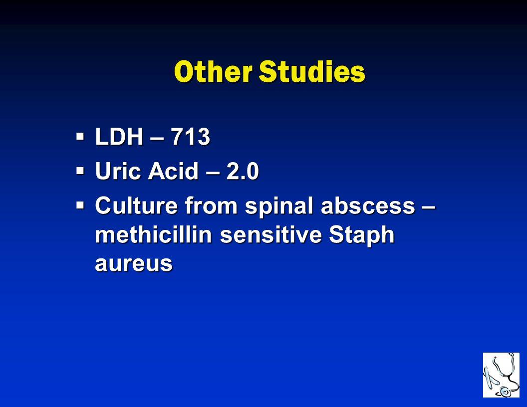Other Studies LDH – 713 Uric Acid – 2.0