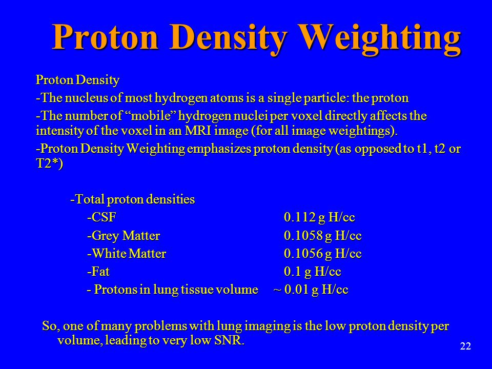 Proton Density Weighting