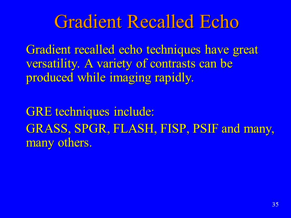 Gradient Recalled Echo