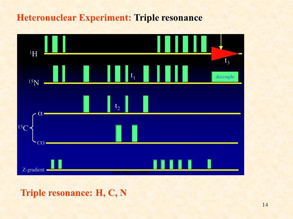 Heteronuclear Experiment: Triple resonance