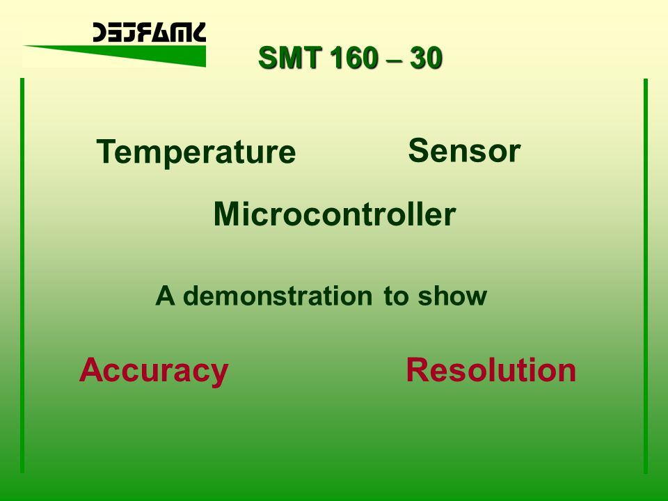 Temperature Sensor Microcontroller Accuracy Resolution SMT 160 – 30