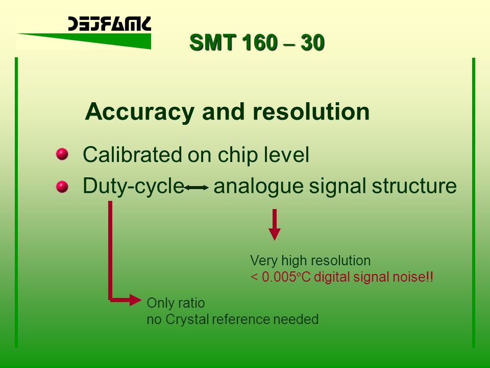 Accuracy and resolution