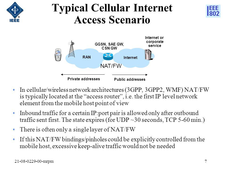 Typical Cellular Internet Access Scenario