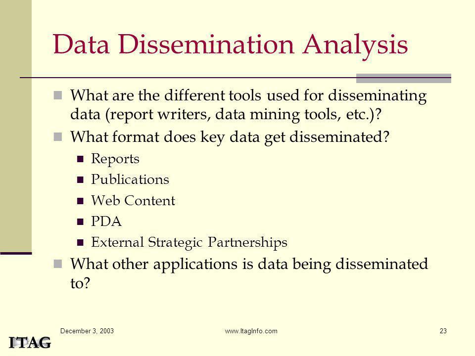 Data Dissemination Analysis