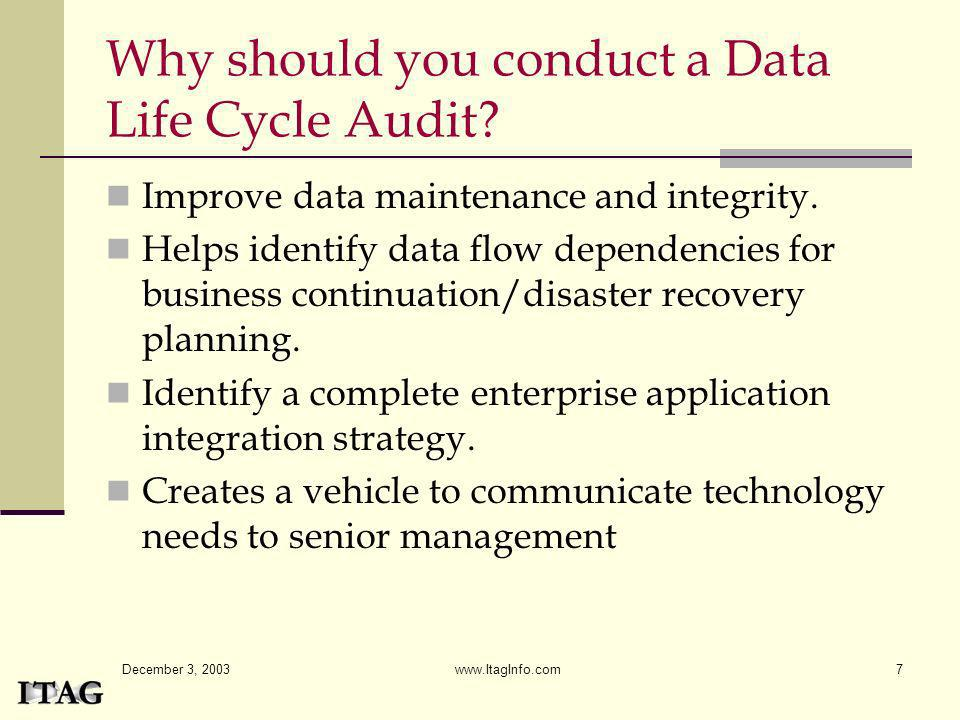 Why should you conduct a Data Life Cycle Audit