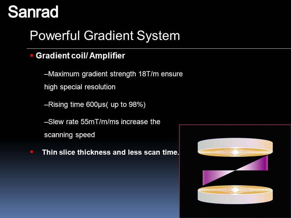 Sanrad Powerful Gradient System Gradient coil/ Amplifier