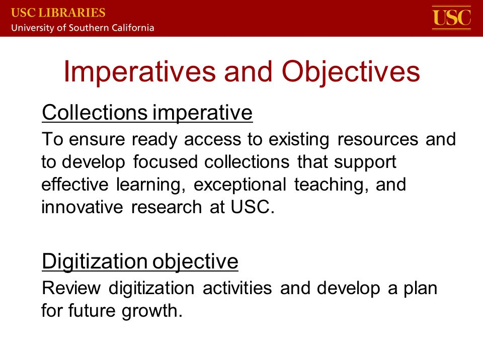 Imperatives and Objectives
