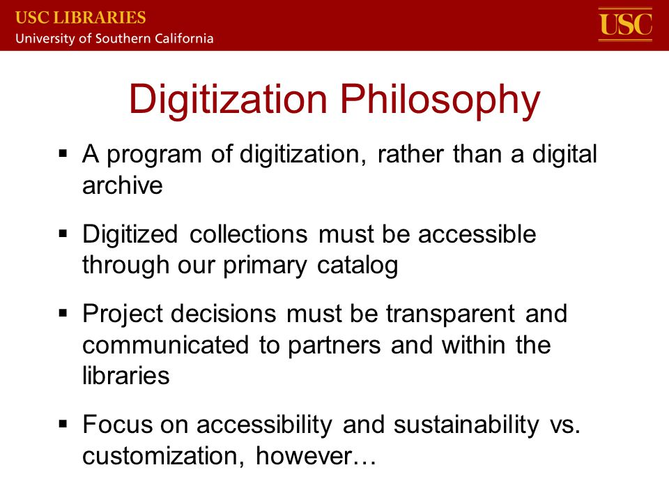 Digitization Philosophy