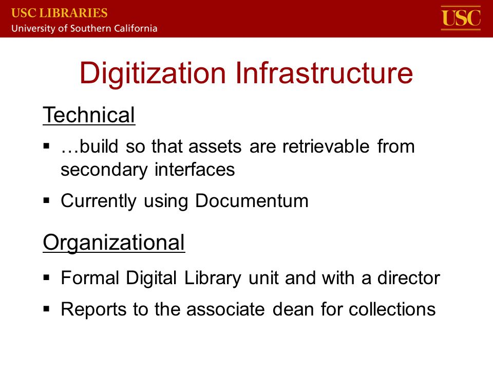 Digitization Infrastructure