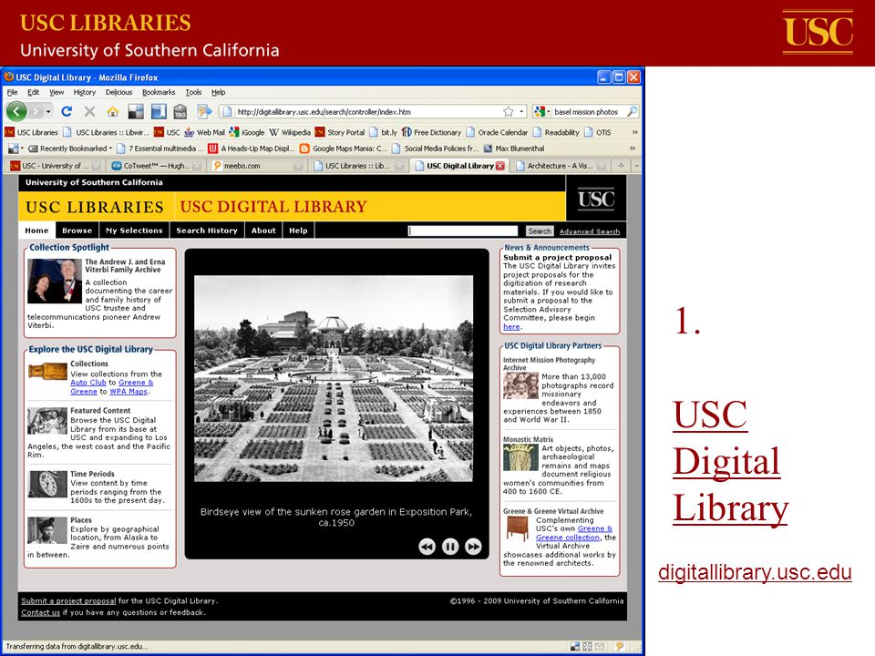 1. USC Digital Library digitallibrary.usc.edu