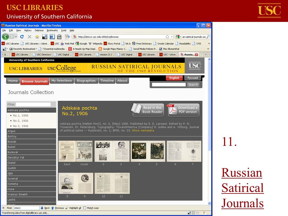 11. Russian Satirical Journals
