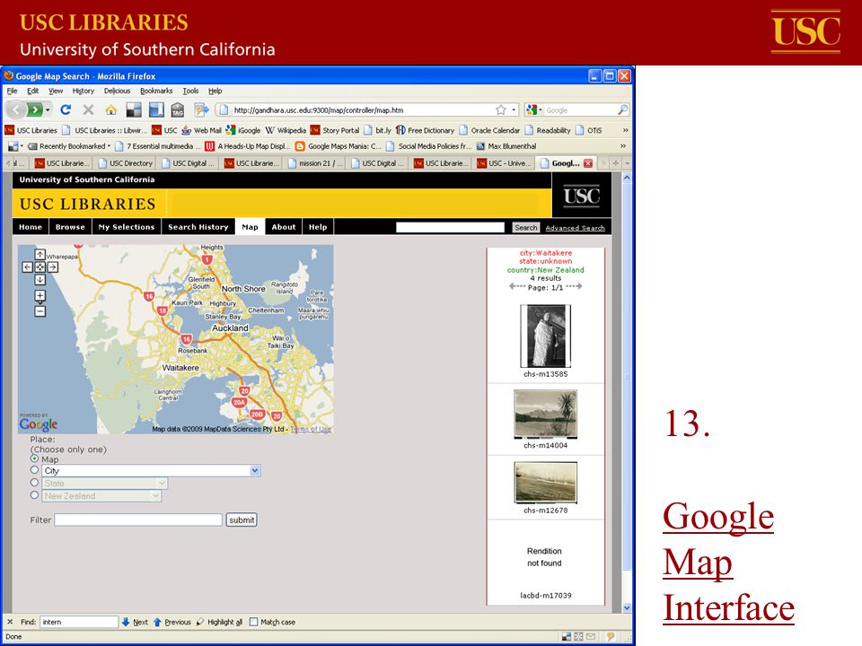 13. Google Map Interface