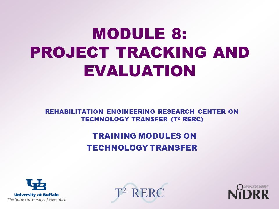 MODULE 8: PROJECT TRACKING AND EVALUATION