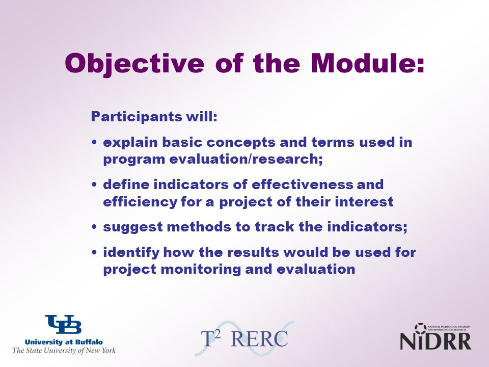 Objective of the Module: